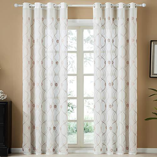cortinas salon gris y blanca