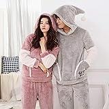 Korean Winter Coral Velvet Couple Pajamas Set Mickey Plus Size Home Clothes Suit Loungewear Pjs Women Pyjamas Pijama Mujer Onsie