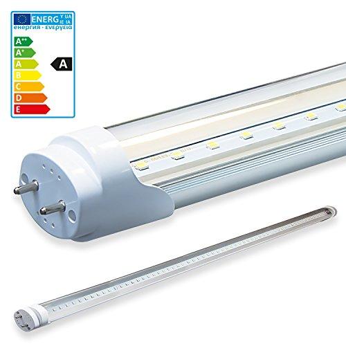 LEDVero 1x SMD Tubo/tubo LED fluorescente T8 G13 -Cover trasparente 150 cm, 25 W, 2500lumen- pronto per l'installazione, Colore Luce:neutro