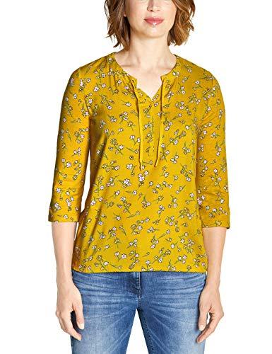 CECIL Damen 313728 Felia T-Shirt, Mehrfarbig (Ceylon Yellow 31892), X-Large (Herstellergröße:XL)