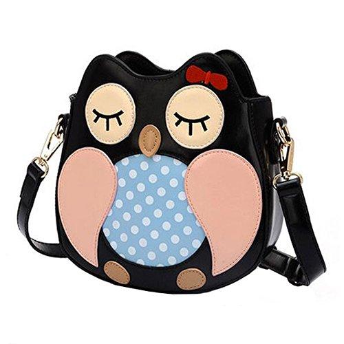 Sac à main de sac de bourse de hibou de loisirs de filles, sac de bourse adorable, sac à bandoulière simple d'épaule PU Personnalité
