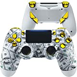 HexGaming HEX Edge Controller 4 Mappable Back Buttons & Replaceable Thumbsticks & Hair Trigger for PS4 Pro Custom Controller PC Wireless FPS Esport Gampad - $100 Cash Money Dollar