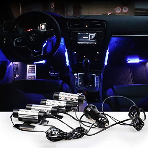 Malayas 4 en 1 LED Néon 12V Éclairage Lampe d'Ambiance Lumières Bleu Feux de l'atmosphere Lampadaire pour Décoration Intérieur Voiture Auto