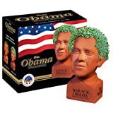 Chia Pet Determined Pose Obama with Seed Pack, Decorative Pottery Planter, Easy to Do and Fun to Grow, Novelty Gift, Perfect for Any Occasion