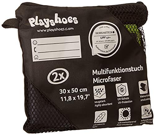 Playshoes Unisex Multifunktionstuch, Badehandtuch Mikrofaser Tragbare Decke, grau, 30 x 50 cm-2er Pack