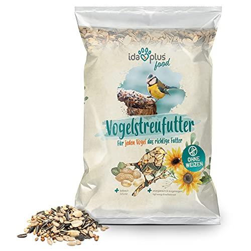 Ida Plus - Vogelstreufutter ohne Weizen für Wildvögel & Vögel - Winterstreufutter - Ganzjahres Vogelfutter - Optimale Mischung - Futter ist Weizenfrei, Fettreich & Energiereich 1x 1500 g