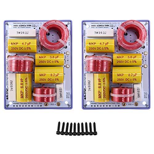 Haude AS-23C 2 vías 2 altavoces (Tweeter + Bajos) Altavoces Divisor de frecuencia de audio Filtros cruzados (2 piezas)