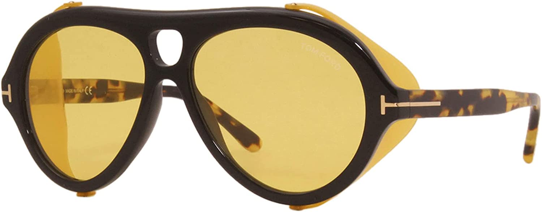 Tom Ford NEUGHMAN FT 0882 Black Havana/Brown Yellow 60/15/145 men Sunglasses