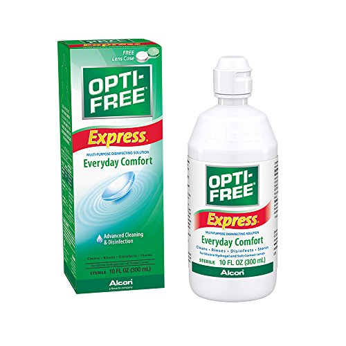 Opti-Free Express Multi-Purpose Disinfecting Solution with Lens Case, 10-Ounces, 10-oz