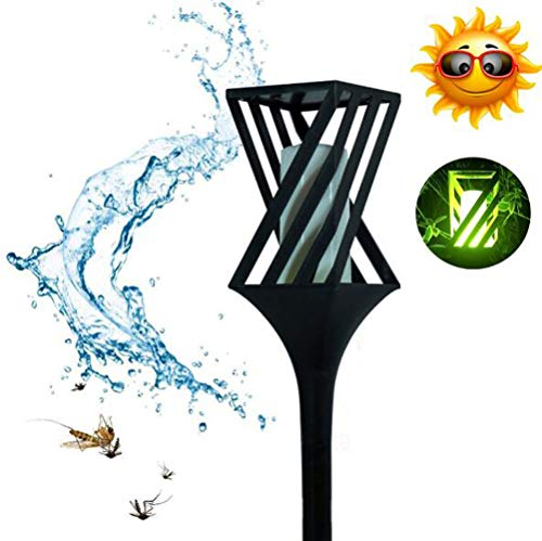 M.STG Courtyard,Garden Camping Lantern Mosquito Zapper Tent Light,1w 1500mA Solar Charging Electric Shock Insect Waterproof,Outdoor Garden, Lawn, Camping Travel,Hiking Fishing,