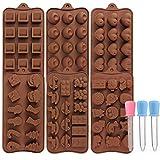 Stampi per cioccolato 6 pezzi Stampo in silicone a forma di cuore Set da forno fai da te per torta, caramelle al cioccolato per bambini, uomini, donne