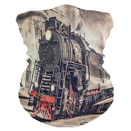 KDU Fashion Neck Gaiter, Vintage Express Steam Train Neck Band,Polyester Neck Gaiters voor buiten hardlopen