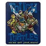 Nickelodeon's Teenage Mutant Ninja Turtles, 'Tough Turtles Blues' Fleece Throw Blanket, 45' x 60', Multi Color