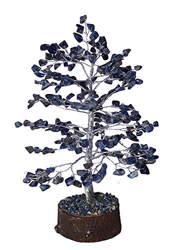 NK CRYSTALS Sodalith Steinbaum Reiki Kristalle Bonsai Figuren Baum des Lebens Edelsteine Geldbaum Home Dekorative Geschenke