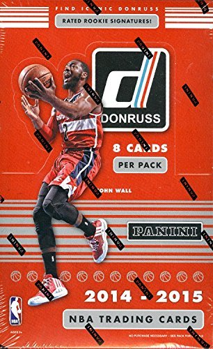 2014-15 Donruss Basketball Cards Hobby Box (24packs/box, 8 cards/pack, 2 Inserts PER PACK !)