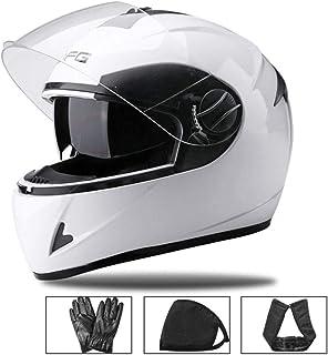 バイクヘルメット フルフェイス メンズ レディース 原付ヘルメット ダブルレンズ 襟巻き付き クリアシールド(透明) スモークシールド ジェットヘルメット システム フリーサイズ 54~60cm