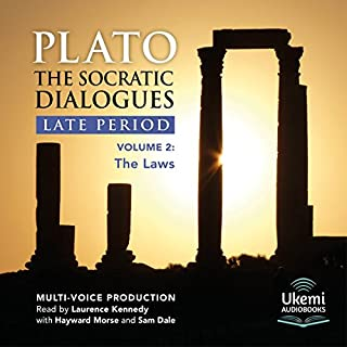 The Laws     The Socratic Dialogues Late Period, Volume 2              By:                                                                                                                                 Plato                               Narrated by:                                                                                                                                 Laurence Kennedy,                                                                                        Hayward Morse,                                                                                        Sam Dale                      Length: 14 hrs and 9 mins     1 rating     Overall 5.0