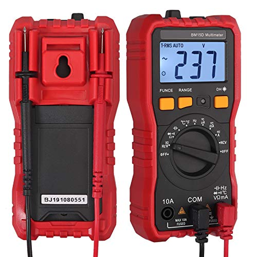 Neoteck TRMS Auto Ranging Digital Multimeter, AC/DC Amp Voltage Ohm Meter Tester with ACVHz Continuity Capacitance Frequency Diode Transistor NCV Detection
