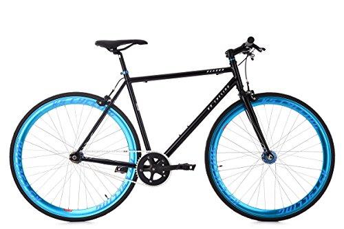 """KS Cycling Fixie Fitnessbike 28"""" Pegado schwarz-blau RH 56 cm"""