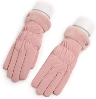 JCCOZ Touch Screen Gloves Ladies Gloves Autumn and Winter Plus Velvet Thickening Outdoor Warm Driving Cycling Skiing Five Fingers Can Touch The Screen (Color : E)