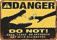 Danger Do Not メタルポスター壁画ショップ看板ショップ看板表示板金属板ブリキ看板情報防水装飾レストラン日本食料品店カフェ旅行用品誕生日新年クリスマスパーティーギフト