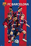 ERIK - Póster de fútbol, FC Barcelona 2020/2021 grupo de 61 x 91,5 cm