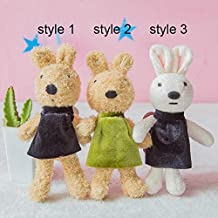 MANGMOC 1Pc 18Cm Cute Rabbit Plush Toys Mini Bag Phone Pendants Stuffed Animals Dressing Rabbits Bear Keychain Doll for Girls Gift New Must Haves 8 Year Old Girl Gifts Favourite Movie