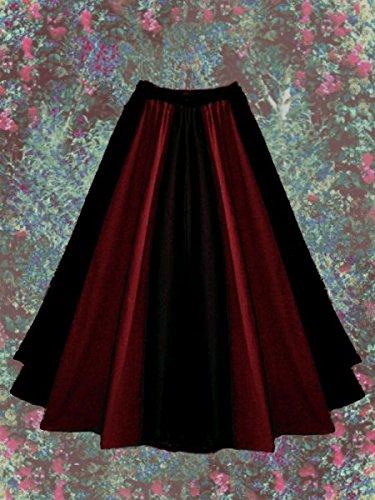 Dark Dreams Gothic Mittelalter LARP Rock Luana zweifarbig, Farbe:schwarz/rot, Größe:freesize - 3