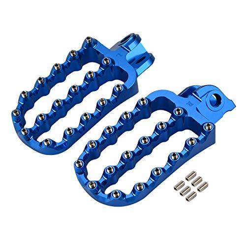 DunMenEn Pegas de pies ampliados Descansar Poders extendidos Reposapiés para Husqvarna 701 Enduro Supermoto 2016 2017 2018 2019 2020 2021 Motocicleta DunMenEn (Color : Blue)