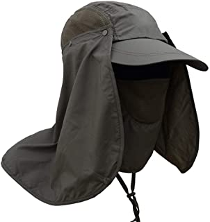 1Pcs Men Women Visor Hat with Neck Flap Sun Protection Hat Summer