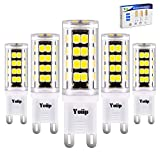 Yuiip G9 LED Bulb Light 3W 5000K Cool White 400LM Equivalent to 40W Halogen Bulbs, No Flicker, No Strobe,...