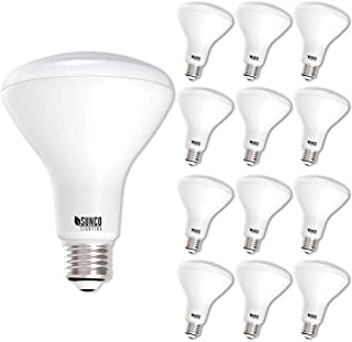Sunco Lighting 12 Pack BR30 LED Bulb 11W=65W,  5000K Daylight,  850 LM,  E26 Base,  Dimmable,  Indoor/Outdoor Flood Light - UL & Energy Star