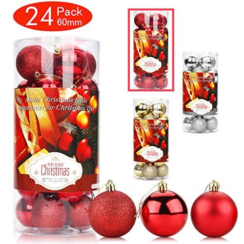 Aitsite Palle di Natale Palle per Albero di Natale Bauble 6 CM Porta Applique Ornamenti Decorazioni Albero Palle Decorative Festa per Matrimoni Forniture
