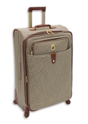 London Fog Luggage Chelsea Olive Plaid 25in 360 exp Upright suiter