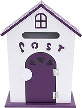 SOIMISS Wandgemonteerde rustieke brievenbus vintage pastorale stijl vogelhuisvorm brievenbus voorstel brievenhouder Mail S...