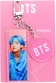Nuofeng - Kpop BTS New Album 'MAP of The Soul : Persona' Concept Photo Keychain Creative Acrylic Key Ring Hot Gift for A.R.M.Y.(H03)