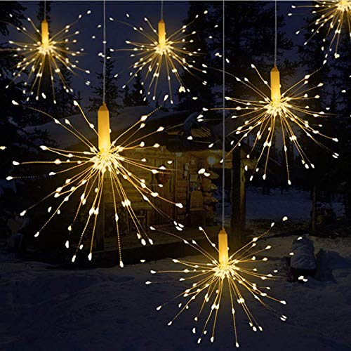 Queta Firework LED Light, Copper Wire LEDs Light Waterproof Christmas Sparkle Lights Remote Control for Room, Garden, Patio, Wedding, Party, DIY Decoration (150leds)