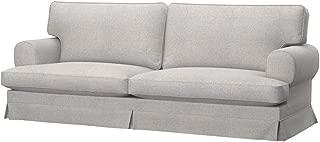 Soferia Replacement Cover for IKEA EKESKOG 3-seat Sofa-Bed Cover, Fabric Naturel Beige