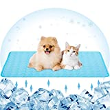 Pet Cooling Bed Mats Dog Cool Pads Washable Comfort Breathable for Dogs and Cats Indoor Outdoor, Keep Cool Ice Silk Sleeping Mat for Summer Hot Weather