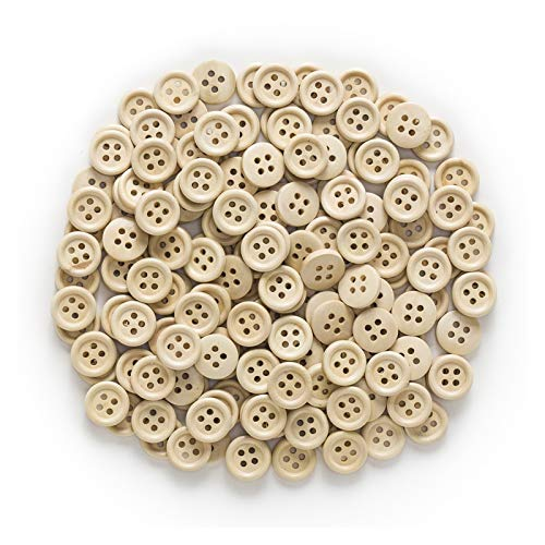 Exquisito 30 / 50pcs Botones de madera de 4 orificios para coser Scrapbook Ropa Artesanía Regalo Chaqueta Blazer Suéteres Accesorios para el trabajo manual 10-25mm para ropa y decoración