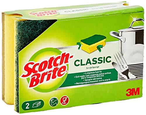 Scotch-Brite Estropajo Salvauñas Comfort, Verde (clásico)