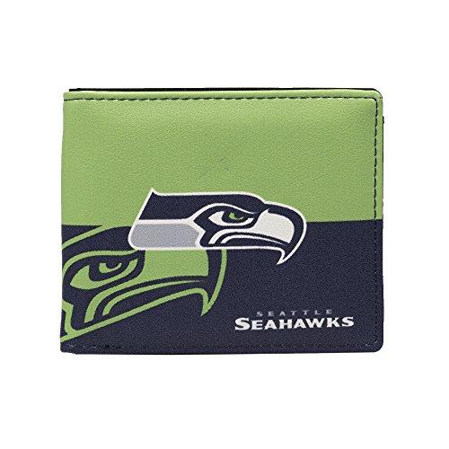 Littlearth NFL Seattle Seahawks Bi-fold Wallet,Navy,5