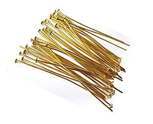 250 Kettelstifte Nietstifte 50mm x 0,7mm Gold Kopfstifte Perlenstifte Golden Prismenstifte M308