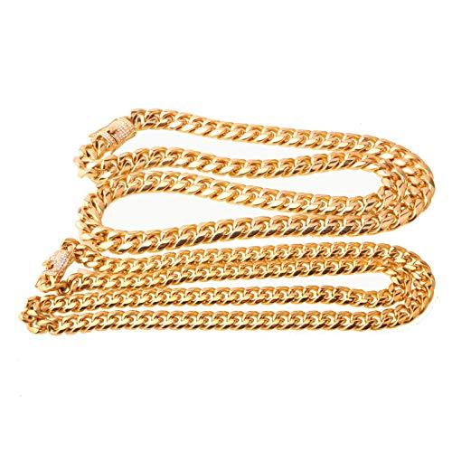 Aooaz Collar Acero Inoxidable Hombre Collar De Cadena Cubana Collares De Hombre De Pesas Minimalistaanchura 8-14mm Longitud 18-36 Inch