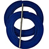 TOFL Baseball and Softball Glove Lace Kit, 2 Blue Leather Laces, Leather Lacing Needle