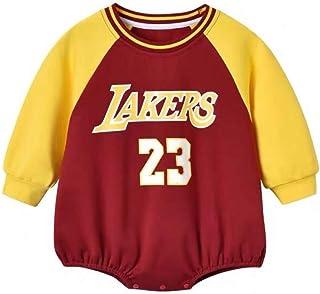 ZHYIYI Camiseta De Baloncesto Para Bebés, Manga Larga De Algodón Transpirable, Manga Larga Para Bebés, Camiseta Cómoda Par...
