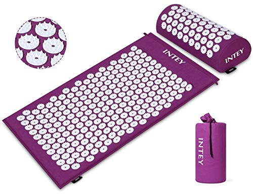 INTEY Tapis d'acupression et Oreiller, Kit...