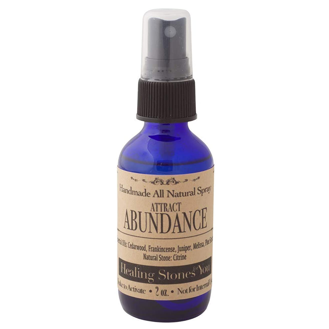 Attract Abundance Crystal Infused Essential Oil Spray with Citrine