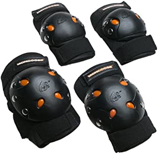 Mongoose Youth BMX Bike Gel Knee and Elbow Pad Set, Multi-Sport Protective Gear, Multiple Colors
