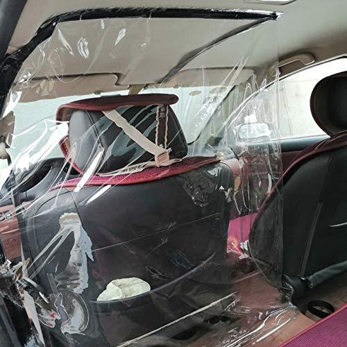 ZHANGJIALI Accessori Auto Fit Full Set Auto Quarantena Trasparente Anti-spruzzo Scudo Anti-Saliva Pellicola Protettiva, Autista sede Universale